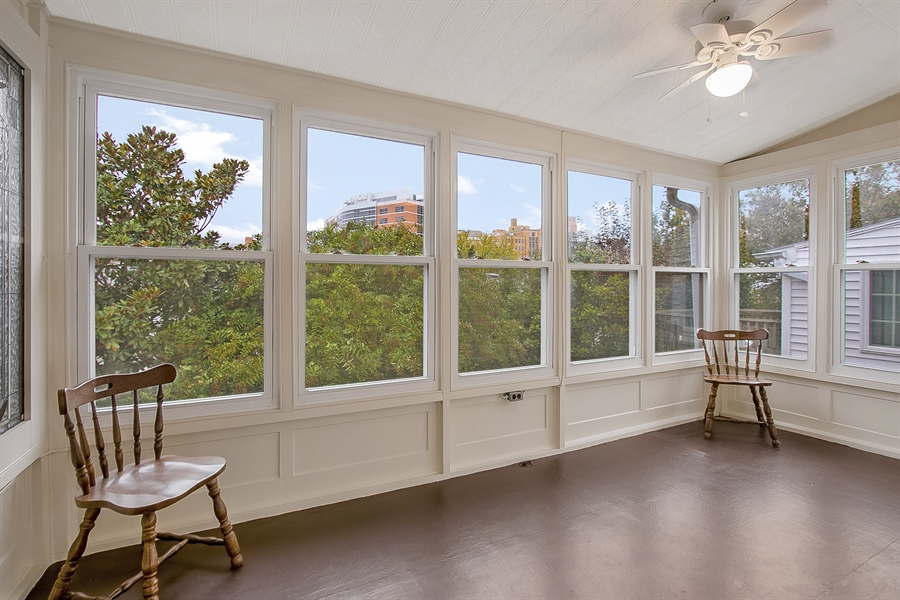 Real Estate Photography - 1323 N Tatnall St, Wilmington, DE, 19801 - Enclosed 2nd floor porch/sun room