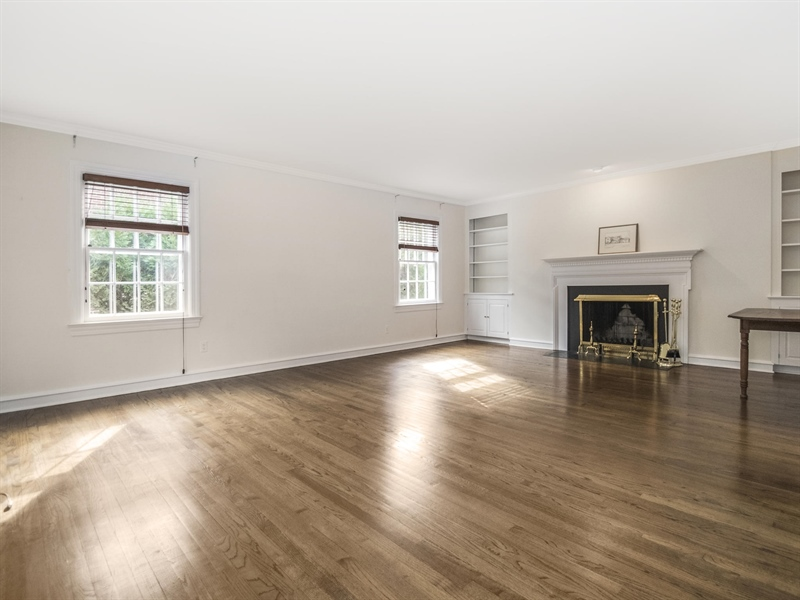 Real Estate Photography - 615 Berwick Rd, Wilmington, DE, 19803 - Living Room with fireplace