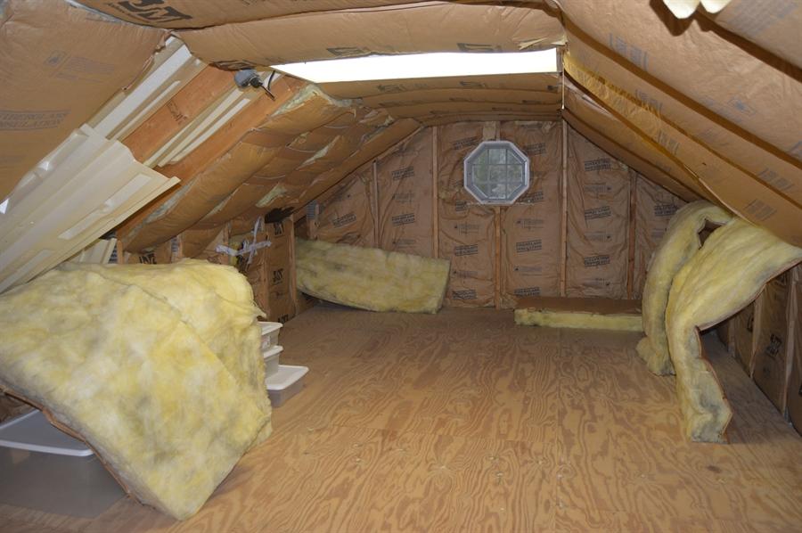 Real Estate Photography - 39 Vining Run, Camden Wyoming, DE, 19934 - Attic Above Garage