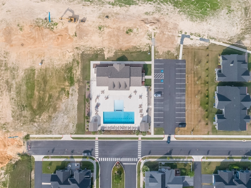 Real Estate Photography - 303 Arch St, Milton, DE, 19968 - Aerial View of Pool