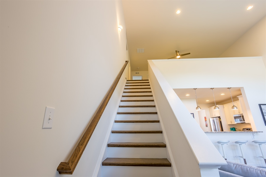 Real Estate Photography - 303 Arch St, Milton, DE, 19968 - Stairs to 2nd Floor