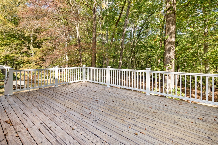 Real Estate Photography - 314 Arbour Dr, Newark, DE, 19713 - Spacious deck with upgraded railings
