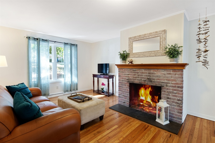 Real Estate Photography - 314 Arbour Dr, Newark, DE, 19713 - Family Room with wood burning brick fireplace