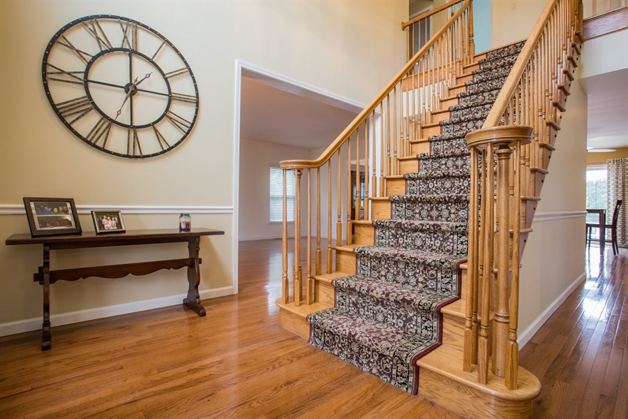 Real Estate Photography - 201 Manor Dr, Middletown, DE, 19709 - Center Staircase