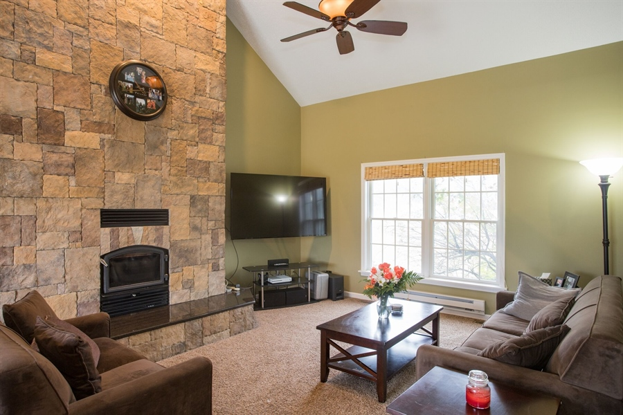 Real Estate Photography - 201 Manor Dr, Middletown, DE, 19709 - Family Room w/Fireplace