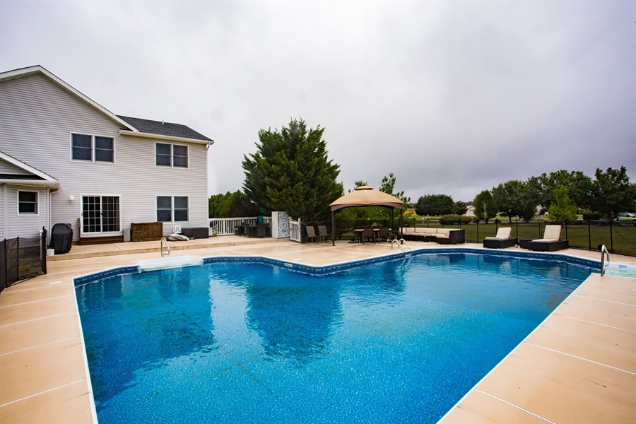 Real Estate Photography - 201 Manor Dr, Middletown, DE, 19709 - Salt Water Pool!
