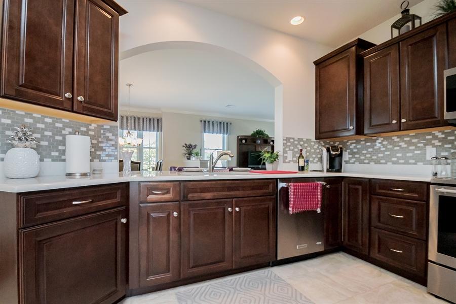 Real Estate Photography - 143 Honeycroft Blvd Boulevard, Cochranville, DE, 19330 - Gourmet Kitchen- open to Dining/Living Areas