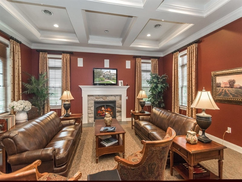 Real Estate Photography - 143 Honeycroft Blvd Boulevard, Cochranville, DE, 19330 - Clubhouse Meeting Room