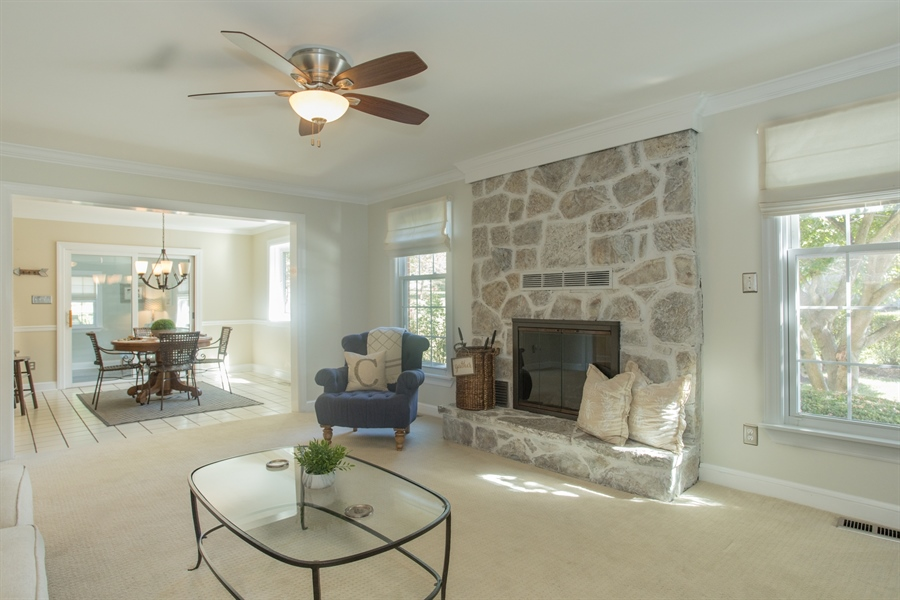 Real Estate Photography - 6 Welwyn Rd, Newark, DE, 19711 - Stone Fireplace #2