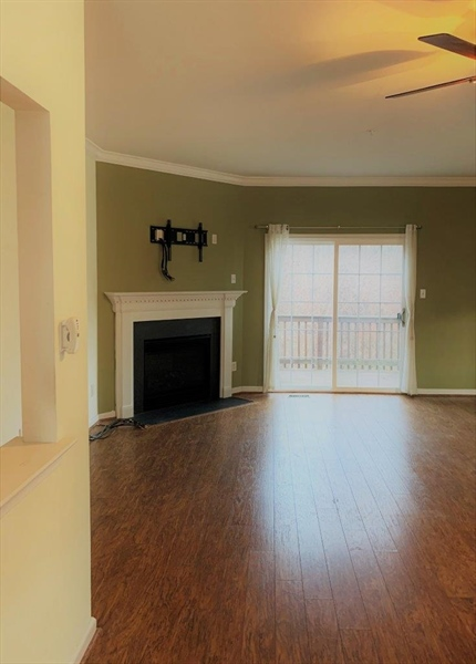 Real Estate Photography - 40 Whitetail Way, Elkton, MD, 21921 - Main Level Kitchen View of Hall & Stairs