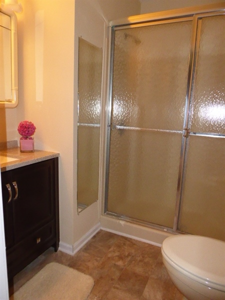 Real Estate Photography - 503 Ponderosa Dr, Bear, DE, 19701 - Master Bathroom with stall shower