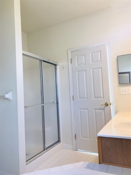 Real Estate Photography - 572 Whispering Trl, Middletown, DE, 19709 - Master bath with stand up shower