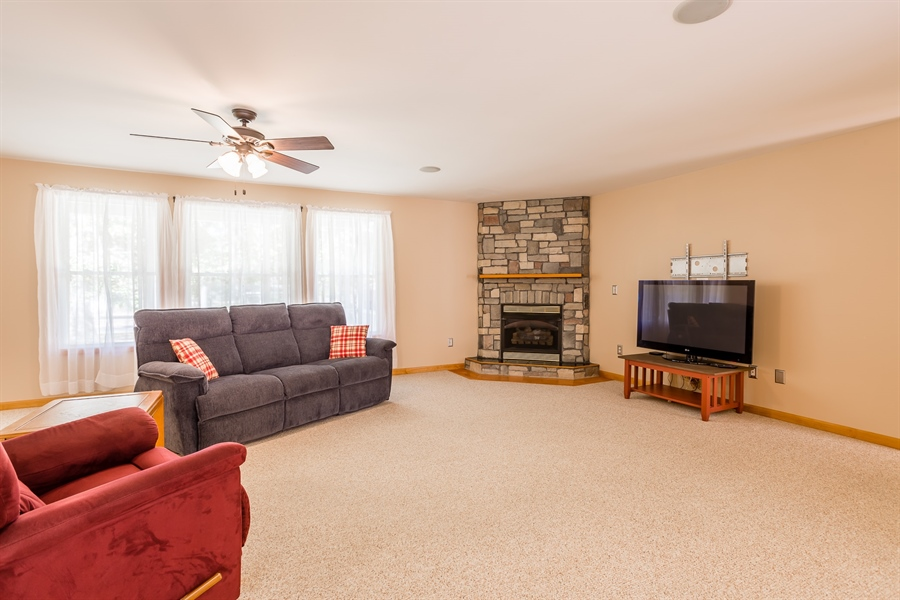 Real Estate Photography - 20 Water St, Lincoln, DE, 19960 - GREAT ROOM WITH FIREPLACE