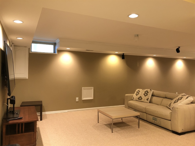 Real Estate Photography - 4919 Lancaster Pike, Wilmington, DE, 19807 - Finished basement for more living space!