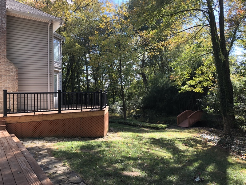 Real Estate Photography - 4919 Lancaster Pike, Wilmington, DE, 19807 - Beautiful new composite deck and private backyard