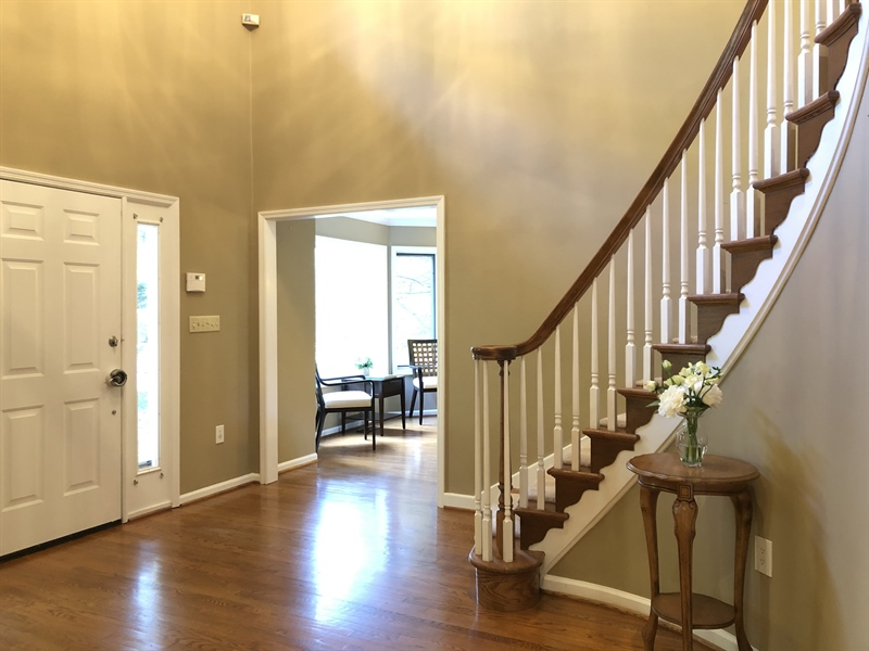 Real Estate Photography - 4919 Lancaster Pike, Wilmington, DE, 19807 - Grand foyer leads you upstairs...