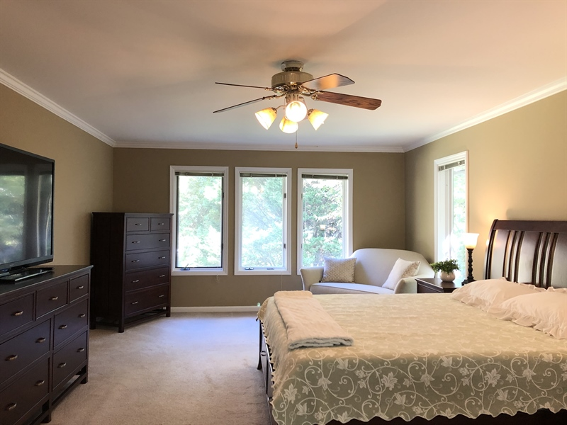 Real Estate Photography - 4919 Lancaster Pike, Wilmington, DE, 19807 - Ceiling fan and lots of natural light