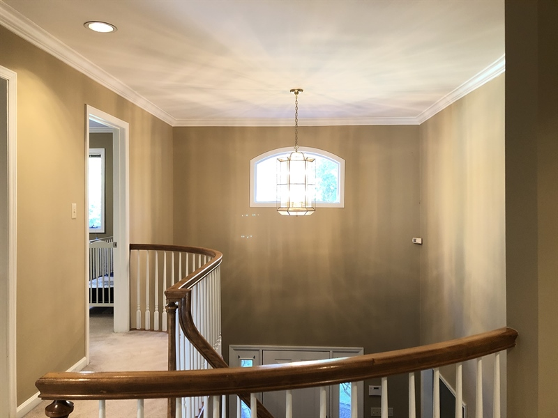 Real Estate Photography - 4919 Lancaster Pike, Wilmington, DE, 19807 - Upstairs foyer and staircase...