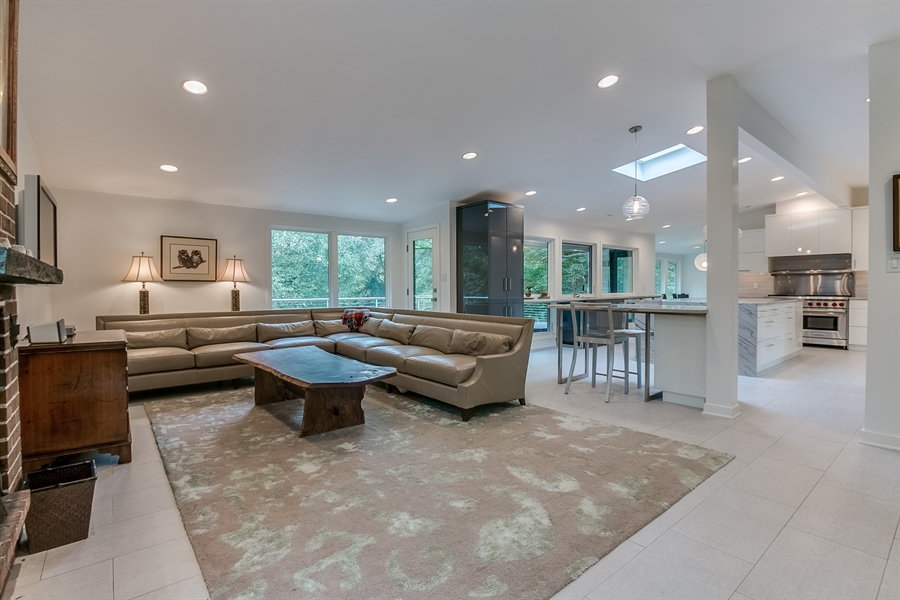 Real Estate Photography - 112 S Spring Valley Rd, Greenville, DE, 19807 - Open Concept Family Room/Kitchen