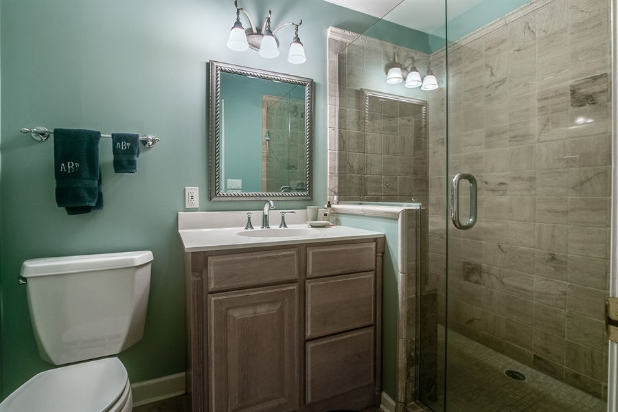 Real Estate Photography - 112 S Spring Valley Rd, Greenville, DE, 19807 - Master Bath has Standing Glass Door Shower
