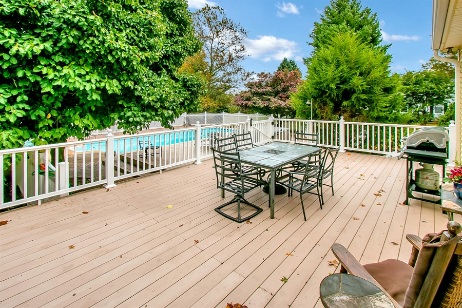 Real Estate Photography - 109 Foxbrook Dr, Landenberg, PA, 19350 - Maintenance free multi-level Deck