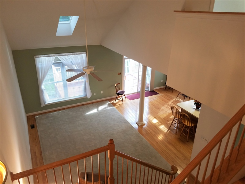 Real Estate Photography - 351 Regis Falls Ave, Wilmington, DE, 19808 - View of kitchen & living room from Loft