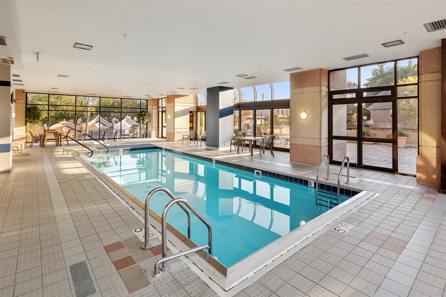 Real Estate Photography - 1100 Lovering Avenue #1100, 1100, Wilmington, DE, 19806 - Large Pool with hot tub
