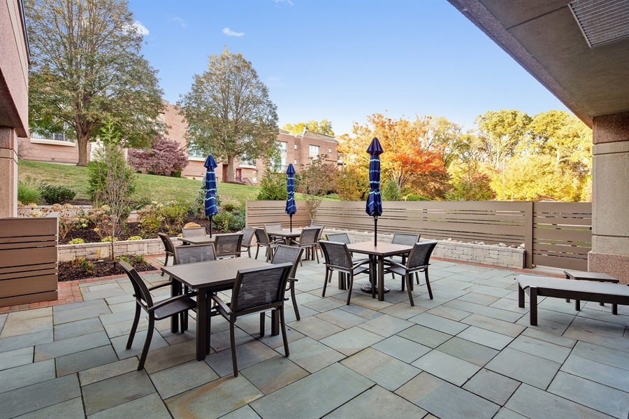 Real Estate Photography - 1100 Lovering Avenue #1100, 1100, Wilmington, DE, 19806 - Additional patio area off Community Room