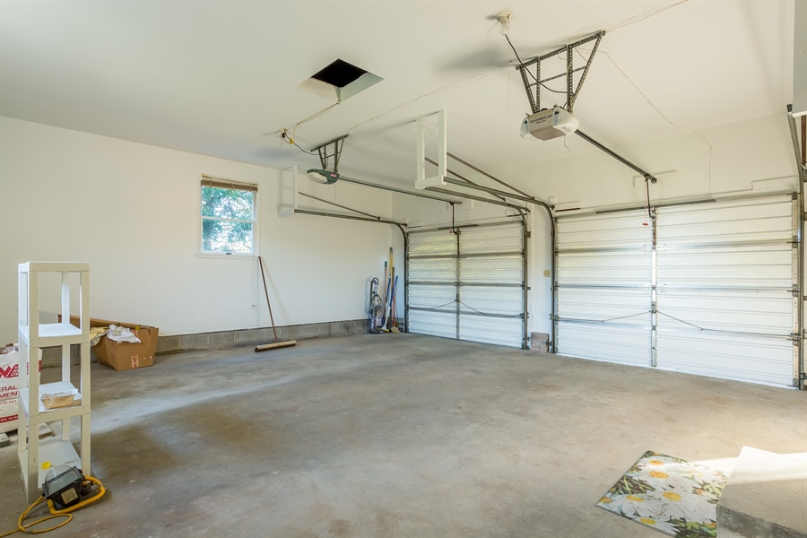 Real Estate Photography - 22650 Dorman Rd, Lewes, DE, 19958 - Recently painted garage