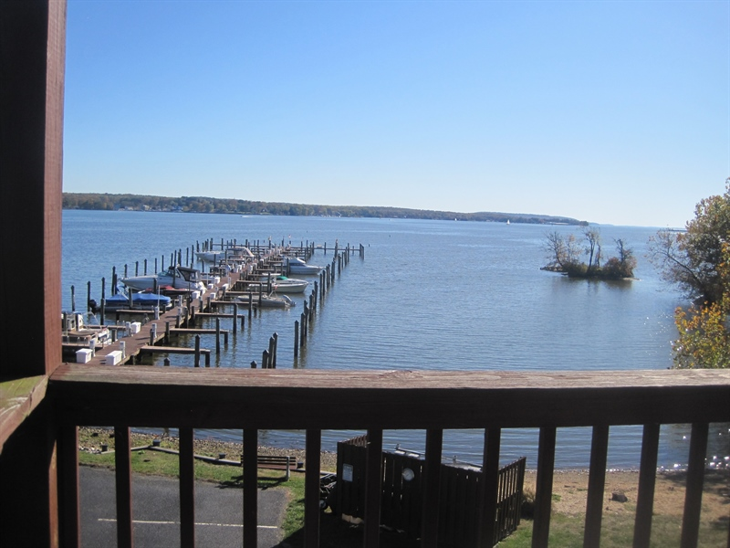 Real Estate Photography - 21 B North East Isles Drive, North East, DE, 21901 - view of water from deck