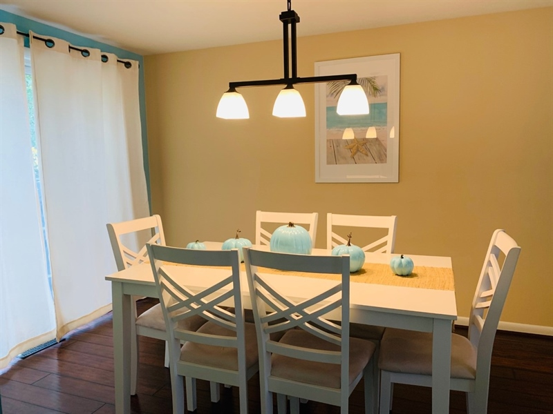 Real Estate Photography - 119 S Dillwyn Rd, Newark, DE, 19711 - Dining Room w Slider to Deck