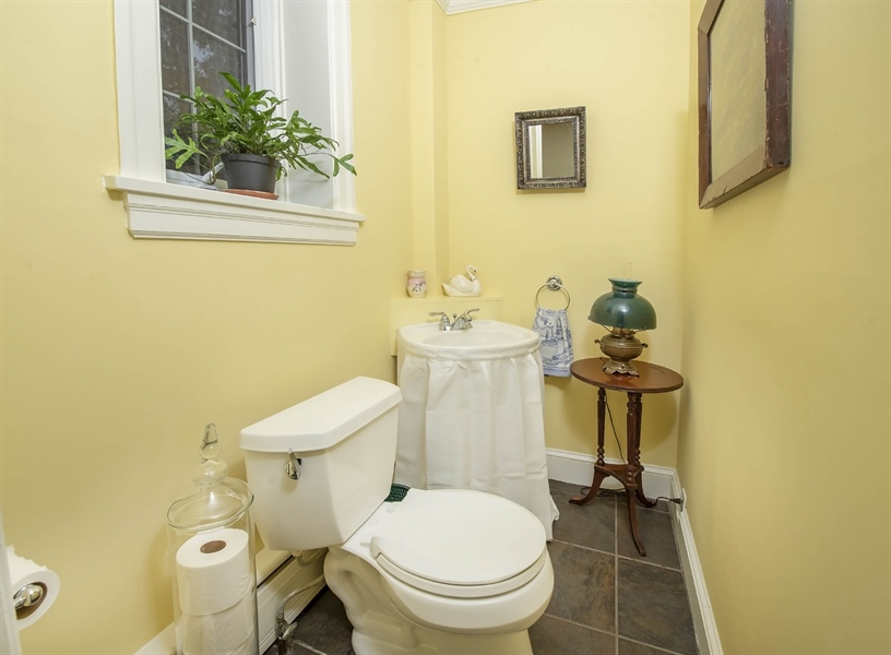 Real Estate Photography - 1316 Woodlawn Ave, Wilmington, DE, 19806 - First floor powder room