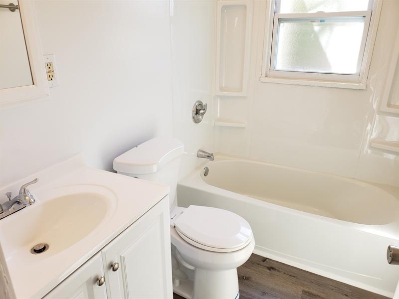 Real Estate Photography - 56 Evergreen Dr, Dover, DE, 19901 - Renovated bathroom