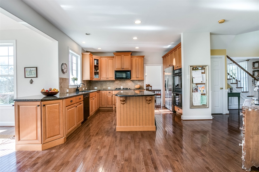 Real Estate Photography - 104 Cezanne Ct, Landenberg, PA, 19350 - Kitchen - Open to Morning Room and Family Room