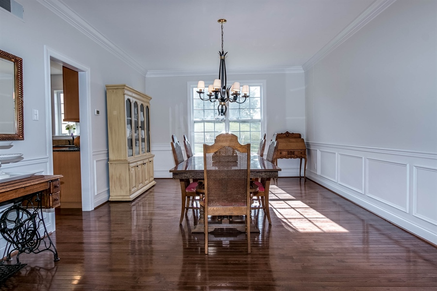 Real Estate Photography - 104 Cezanne Ct, Landenberg, PA, 19350 - Dining Room - Crown Molding & Wainscoting