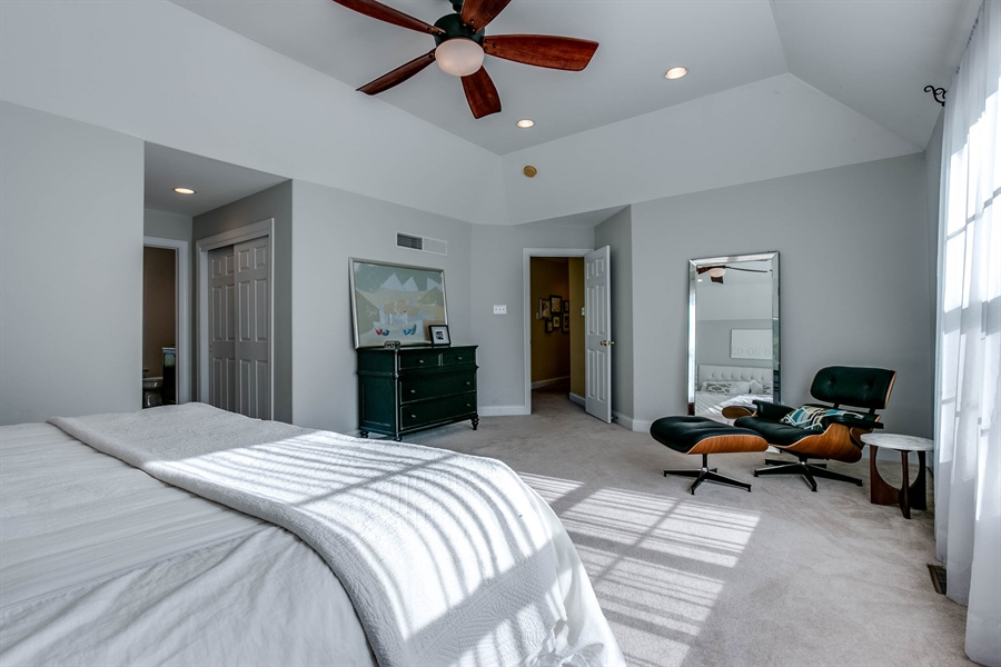 Real Estate Photography - 104 Cezanne Ct, Landenberg, PA, 19350 - Master Bedroom - Tray Ceiling & Two Closets