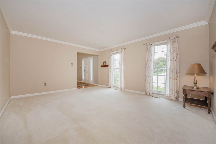 Real Estate Photography - 17 Westwoods Blvd, Hockessin, DE, 19707 - Formal Living Room with Crown Molding