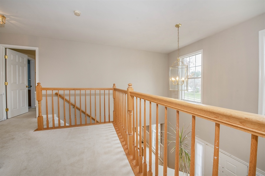 Real Estate Photography - 17 Westwoods Blvd, Hockessin, DE, 19707 - Second Level Balcony Overlooks Main Entry
