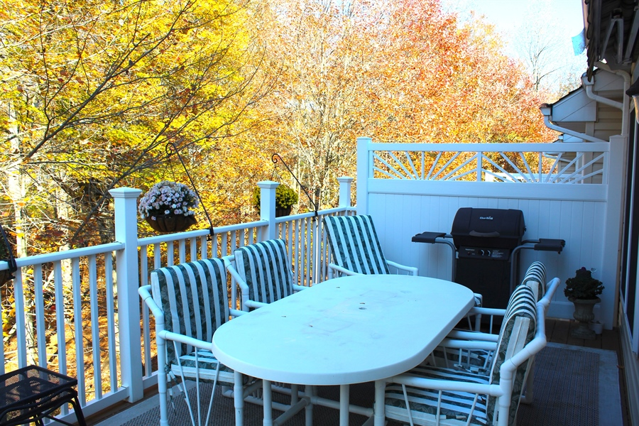 Real Estate Photography - 230 Niagara Falls Dr, Wilmington, DE, 19808 - Deck with Optional Furniture and Grill