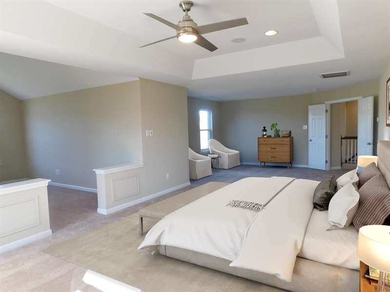 Real Estate Photography - 226 Zion Dr, Smyrna, DE, 19977 - Virtually staged master bedroom