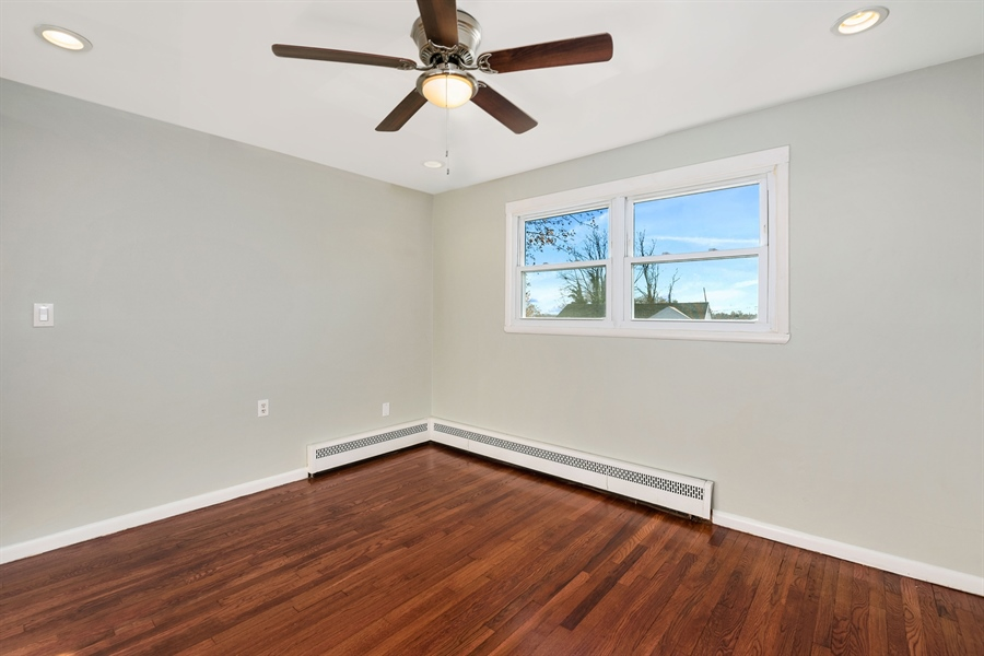 Real Estate Photography - 303 Valley Rd, Wilmington, DE, 19804 - Master Bedroom, Ceiling Fan, Recessed Lighting