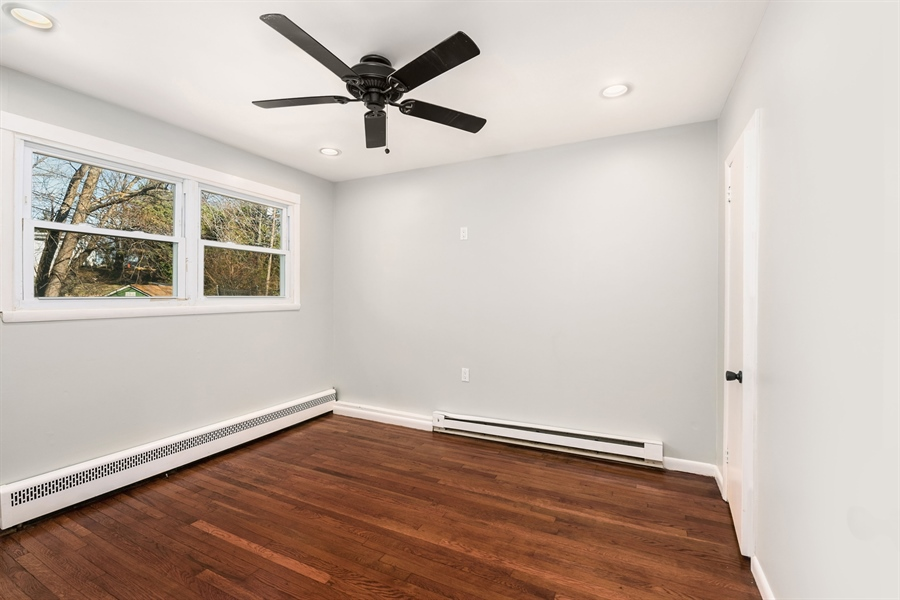 Real Estate Photography - 303 Valley Rd, Wilmington, DE, 19804 - Second Bedroom, Ceiling Fan, Recessed Lighting