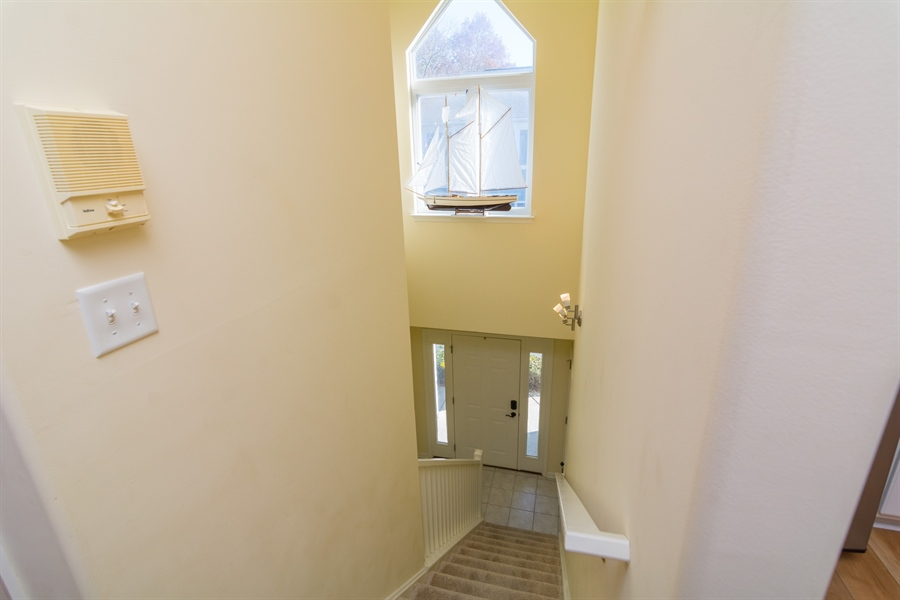 Real Estate Photography - 16 Beech Ln, Lewes, DE, 19958 - View of Entrance from top of Stairway
