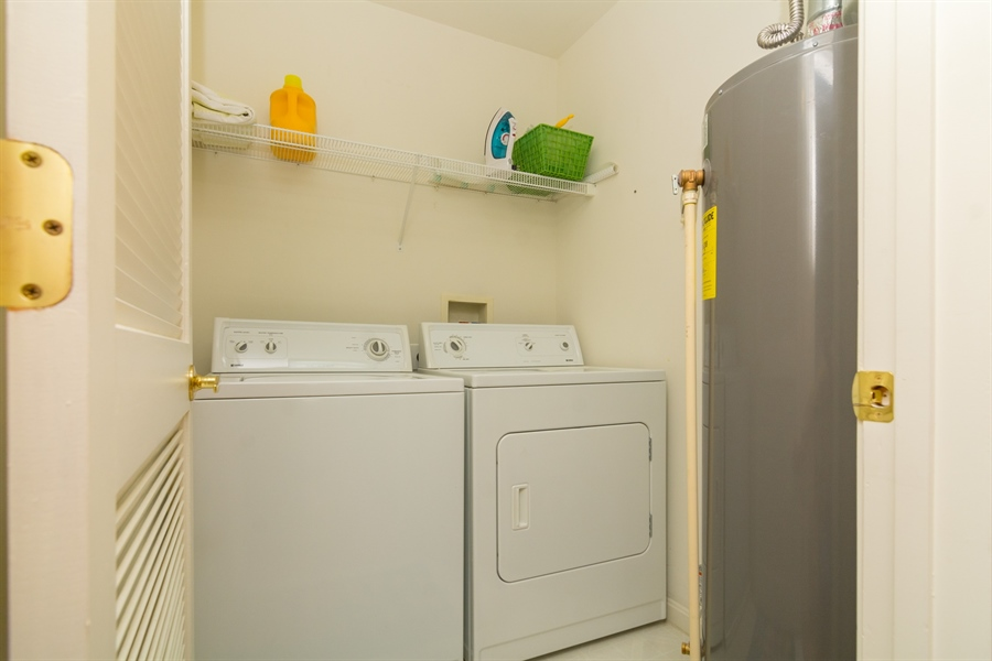 Real Estate Photography - 16 Beech Ln, Lewes, DE, 19958 - Laundry in Unit