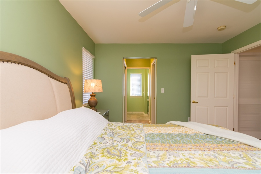 Real Estate Photography - 16 Beech Ln, Lewes, DE, 19958 - Master Bedroom and entrance to closets and bath