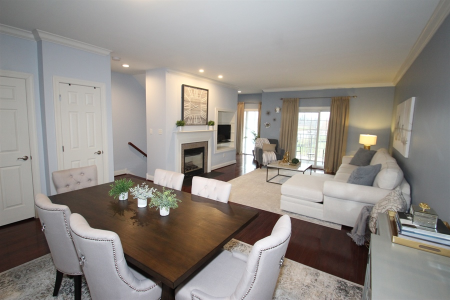 Real Estate Photography - 221 Christina Landing Dr, Wilmington, DE, 19801 - Dining Room/Living Room Combo