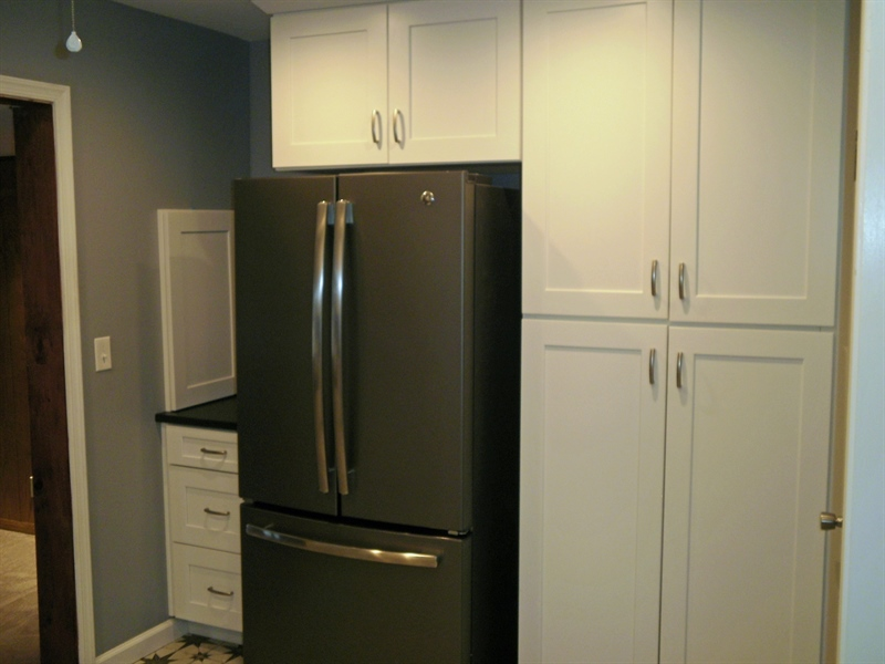 Real Estate Photography - 131 Saint John Dr, Wilmington, DE, 19808 - Large pantry cabinets and appliances included