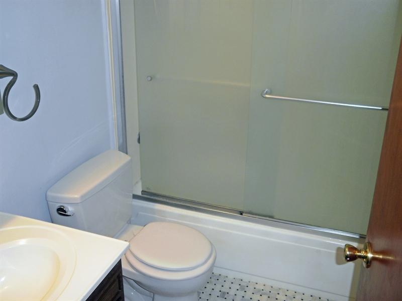 Real Estate Photography - 131 Saint John Dr, Wilmington, DE, 19808 - Bathroom with updated Marble floor
