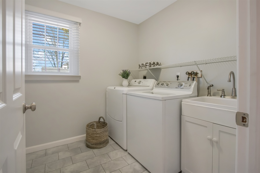 Real Estate Photography - 310 Apple Rd, Newark, DE, 19711 - Main Floor Laundry/Mud Room