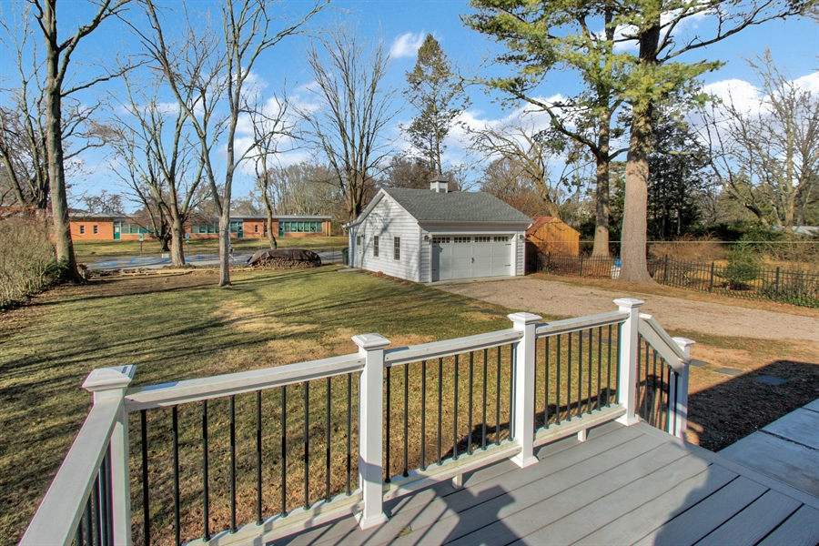 Real Estate Photography - 310 Apple Rd, Newark, DE, 19711 - Deck Overlooks Large Backyard
